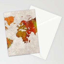 World Map 57 Stationery Cards