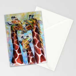 Giraffe family Stationery Cards