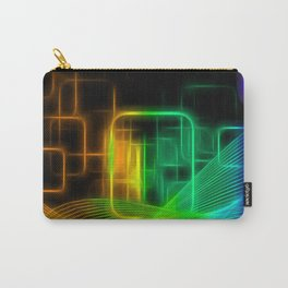 Abstract glowing lines Carry-All Pouch