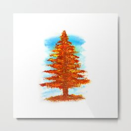 Fall Tree Metal Print