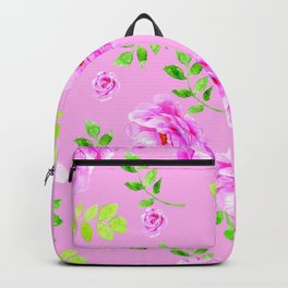 Pretty in pink, pink flower that is Backpack