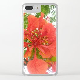 Pretty Flower Clear iPhone Case