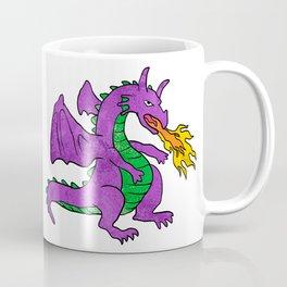purple dragon throwing flames Coffee Mug