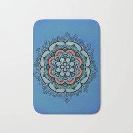Colorful Floral Design Bath Mat