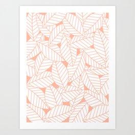 Leaves in Creamsicle Art Print