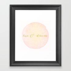 Love & Dream Framed Art Print