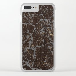Crystallized gold stone texture Clear iPhone Case