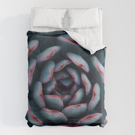 Succulent Close Up Photography Comforters
