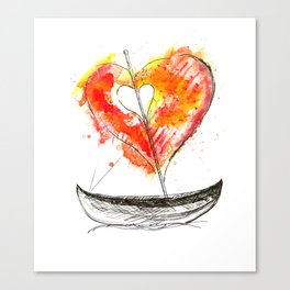 love boat Canvas Print