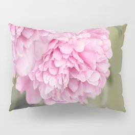 Pink Peonies On A Green And Grey Background #society6 #buyart Pillow Sham