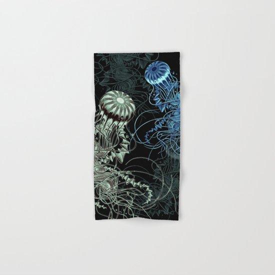 Chrysaora hysoscella (Dark) Hand & Bath Towel