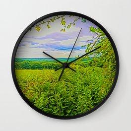 Parbold Hill (Digital Art) Wall Clock