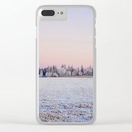 Hoar frost Clear iPhone Case