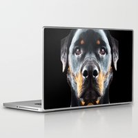 rottweiler Laptop & iPad Skins featuring Rottie Love - Rottweiler Art By Sharon Cummings by Sharon Cummings