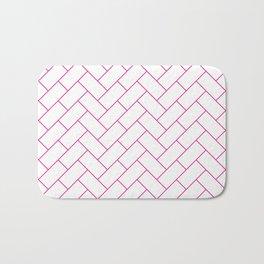 Traditional Herringbone -  Pink Bath Mat