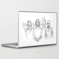 one direction Laptop & iPad Skins featuring One Direction by Cécile Pellerin