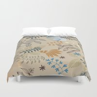 floral pattern Duvet Covers featuring Floral pattern by De Assuncao création