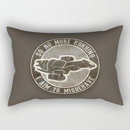 Misbehave Badge V2 Rectangular Pillow