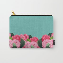 Floral & Turquoise Carry-All Pouch