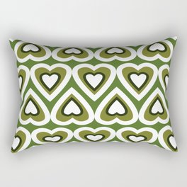 Retro Heart Felt Love in Spring Time Rectangular Pillow