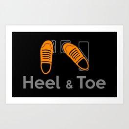 Heel & Toe Art Print