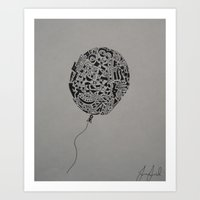 The Balloon. Art Print
