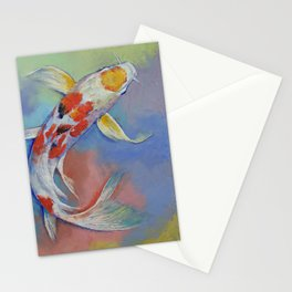 Butterfly Koi Fish Stationery Cards