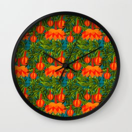 Passiflora Parritae Wall Clock