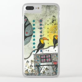 """""""Marusja""""  Illustrated print Clear iPhone Case"""
