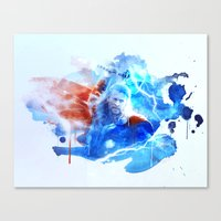 thor Canvas Prints featuring Thor by Rose's Creation