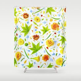 Leaves and flowers (11) Shower Curtain
