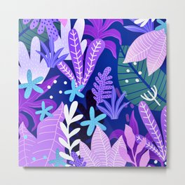 Into the jungle - violet night Metal Print