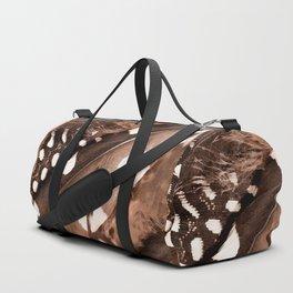 Beautiful Feathers On A Dark Brown Background #decor #buyart #society6 Duffle Bag