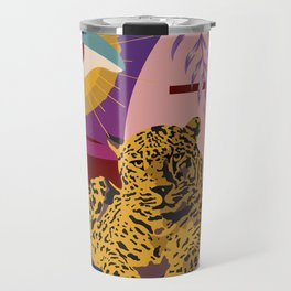 The Big Eye Leopard abstract Travel Mug