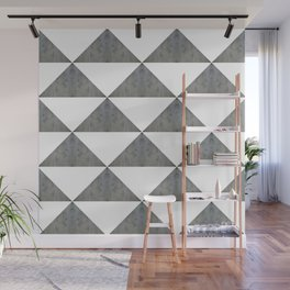 Cement White Triangles Wall Mural