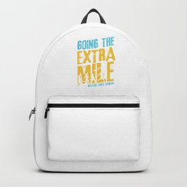 Awesome Cross Country Runners Running Extra Mile Backpack