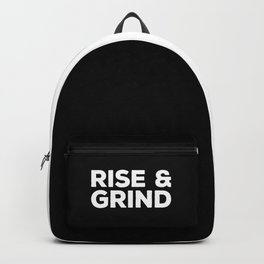 Rise & Grind Gym Quote Backpack