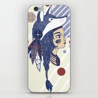native american iPhone & iPod Skins featuring Native American by Katie Ruby Illustrator