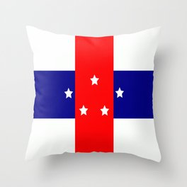 Flag of the Netherlands Antilles Throw Pillow