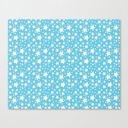 White Stars on Blue Canvas Print