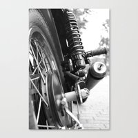motorcycle Canvas Prints featuring Motorcycle by CABINWONDERLAND