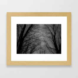 Tree of black Framed Art Print