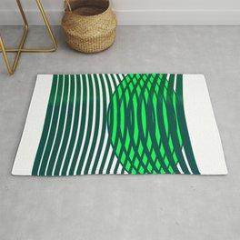 Geometric pattern green modern  Rug