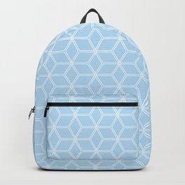 Geometric Hive Mind Pattern - Light Blue #280 Backpack