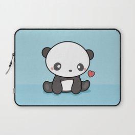Cute Kawaii Panda With Heart Laptop Sleeve