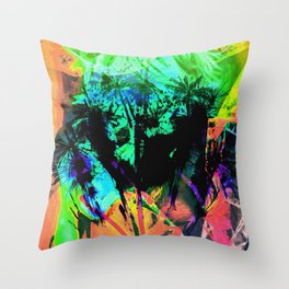Tropical Madness Throw Pillow