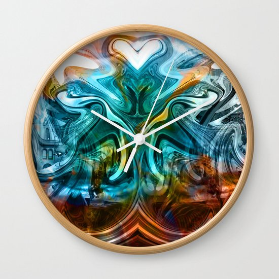liquified time Wall Clock