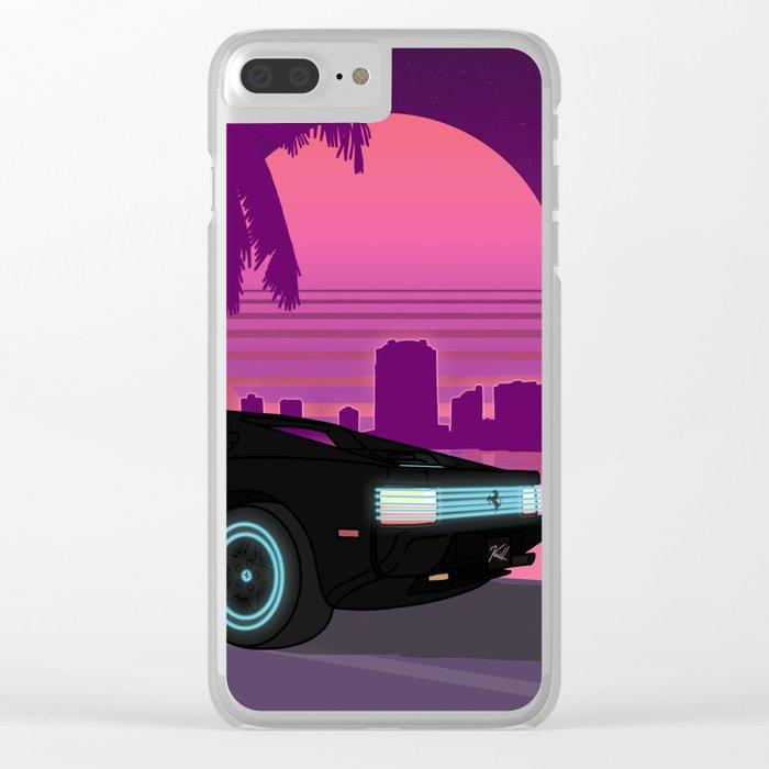 Neon Testarossa Clear iPhone Case