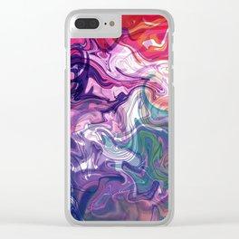 digitally fluid Clear iPhone Case