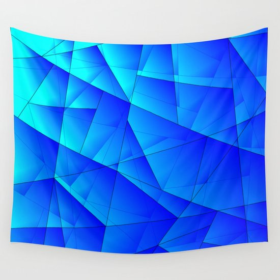 Bright sea pattern of heavenly and blue triangles and irregularly shaped lines. by grachyhamr